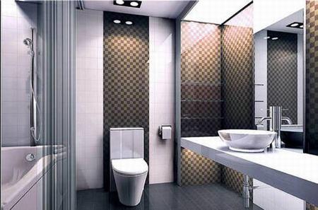 南京金管家:卫生间隔断装修效果图 家庭浴室隔墙设计